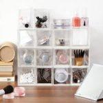 無印アクリルケース(ボックス)の収納アレンジの例でネックレスやメガネやネイルもスッキリ